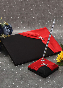 chic-two-toned-wedding-books-pens