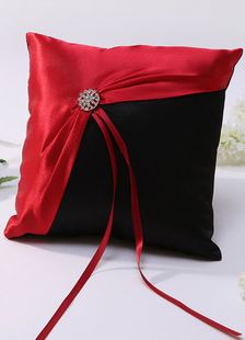 red-metal-details-ribbons-satin-wedding-pillow