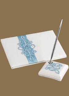 bluewhite-3d-pattern-wedding-books-pens