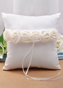 ivory-3d-flowers-ribbons-satin-wedding-pillow