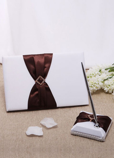 chocolate-bows-wedding-books-pens