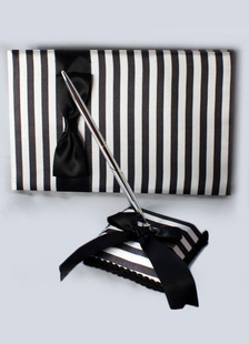 two-toned-stripes-bows-wedding-books-pens
