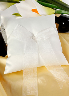 ivory-ribbons-satin-wedding-pillow