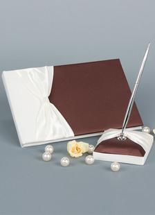 chocolate-bows-wedding-books-pens
