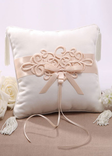 champagne-bows-ribbons-satin-wedding-pillow