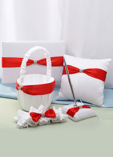 red-white-bows-wedding-flowers-collection-set