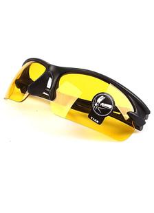 Cadre noir & jaune verres en plastique