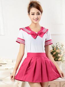 rose-red-bow-tie-school-cloth-uniform-costume
