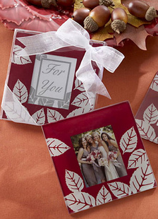 multicolor-bow-glass-photo-frame-coaster-wedding-favors