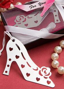 Image of Argento tacco in acciaio inox segnalibro favori di nozze