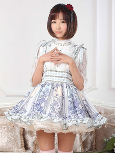 Jupe Lolita Polyester Hime impression multicolore pour femmes