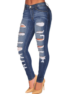 ripped-jeans-deep-blue-denim-jeans-for-women