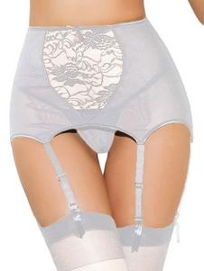 Image For Cinghie di giarrettiera poliestere stampa grigio chiaro per le donne