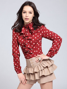red-cotton-blouse-with-polka-dot-print-ruffles-for-women