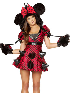 halloween-red-mickey-mouse-polka-dot-polyester-trendy-costume-for-women