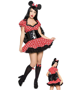 halloween-red-mickey-mouse-polka-dot-bow-polyester-costume-for-women