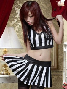 halloween-two-tone-stripes-referee-polyester-costume-for-women