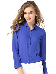 royal-blue-buttons-chiffon-blouse