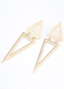 Image of Orecchini di metallo forma triangolo d'oro