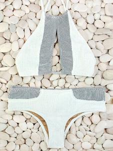 Image of Stampa Spandex costumi da bagno Bikini multicolor con lacci