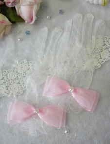 white-lolita-gloves-lace-bow-polyester-gloves