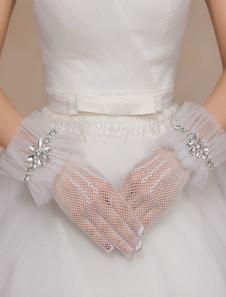 ivory-wedding-gloves-rhinestone-ruffles-mesh-gloves