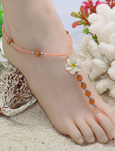 orange-beach-anklet-flowers-beaded-anklet-for-women