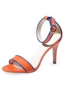 orange-sandals-straps-pu-heels-for-women
