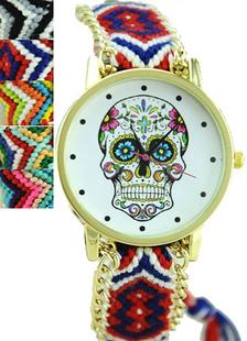 Image of Orologio multicolore bohemien cranio stampa a strati in lega orologio per le donne