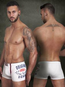 Calzoncillos blanco Slim Fit algodón ropa interior para hombres