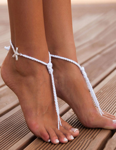 white-beaded-anklet-starfish-beach-wedding-accessories