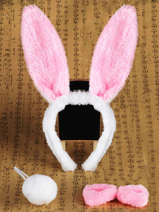 pink-bunny-cosplay-hairband-bow-tie-tail-synthetic-rabbit-children-cosplay-accessories
