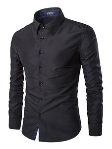 Image of Camicia Elegante Uomo 2019 Camicia Formale Manica Lunga In Coton