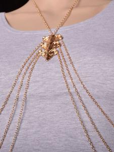 Bikini dorado cuerpo cadena cadena de acoplamiento del Metal con estilo