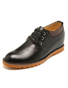Cordón de zapatos cuero negro zapatos para hombres