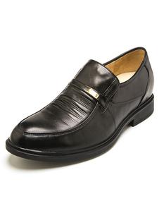 Cuero negro zapatos de cuero Chic para hombres