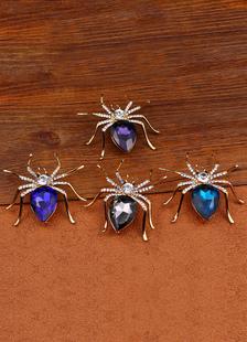 Broche de araña Strass Metal broche para las mujeres
