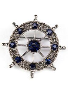 Image of Spilla del timone Spilla del Rhinestone del metallo per le donne