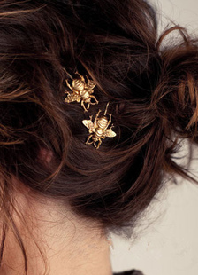 Image of Forcella dell'oro Chic capelli metallo Accessori