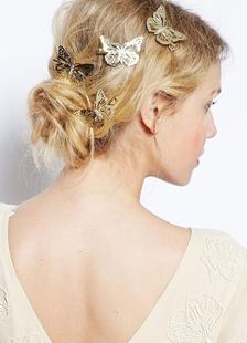 Image of Accessori per capelli in metallo tornante farfalla