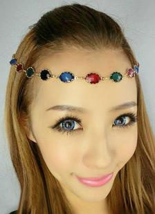 multicolor-headband-beaded-rhinestone-metal-hair-accessories