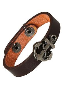 Image of Ancoraggio multicolor ecopelle metallo braccialetto per gli uomini