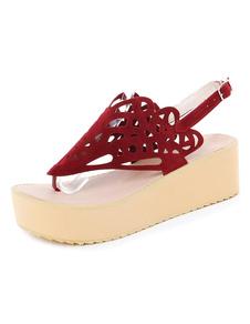 Sandalo con zeppa multicolor taglia fuori sandali per le donne