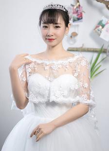 asymmetrical-bridal-wraps-concise-lace-shawl