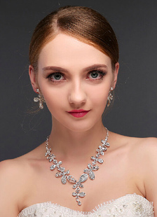 wedding-jewelry-sets-silver-hollow-clover-type-women-jewelry-sets