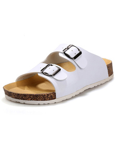 white-slippers-buckle-chic-pu-slippers-for-men