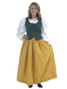 Image For Renaissance giallo Halloween Costume per donna