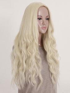 Image of Alice nel paese delle meraviglie la parrucca Cospaly di Regina bianca Carnevale
