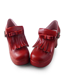 red-lolita-square-heels-shoes-with-tassel-design