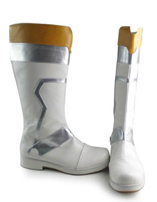 white-silver-camel-lolita-boots-low-heels